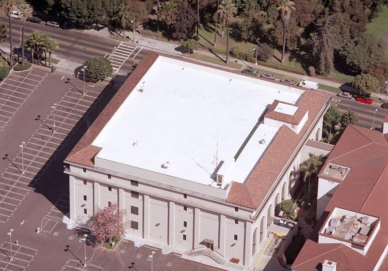 a commercial property with a TPO roof