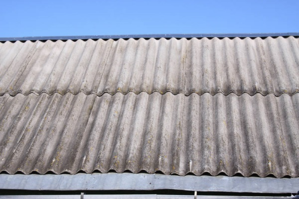 aged corrugated metal sheet roofing
