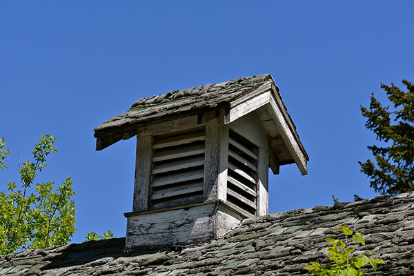 old cupola on a house roof